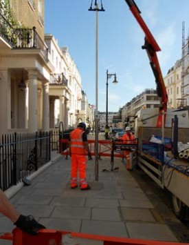 Drilling in Eaton Place