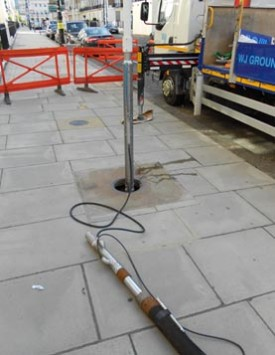 Drilling in Eaton Place, London